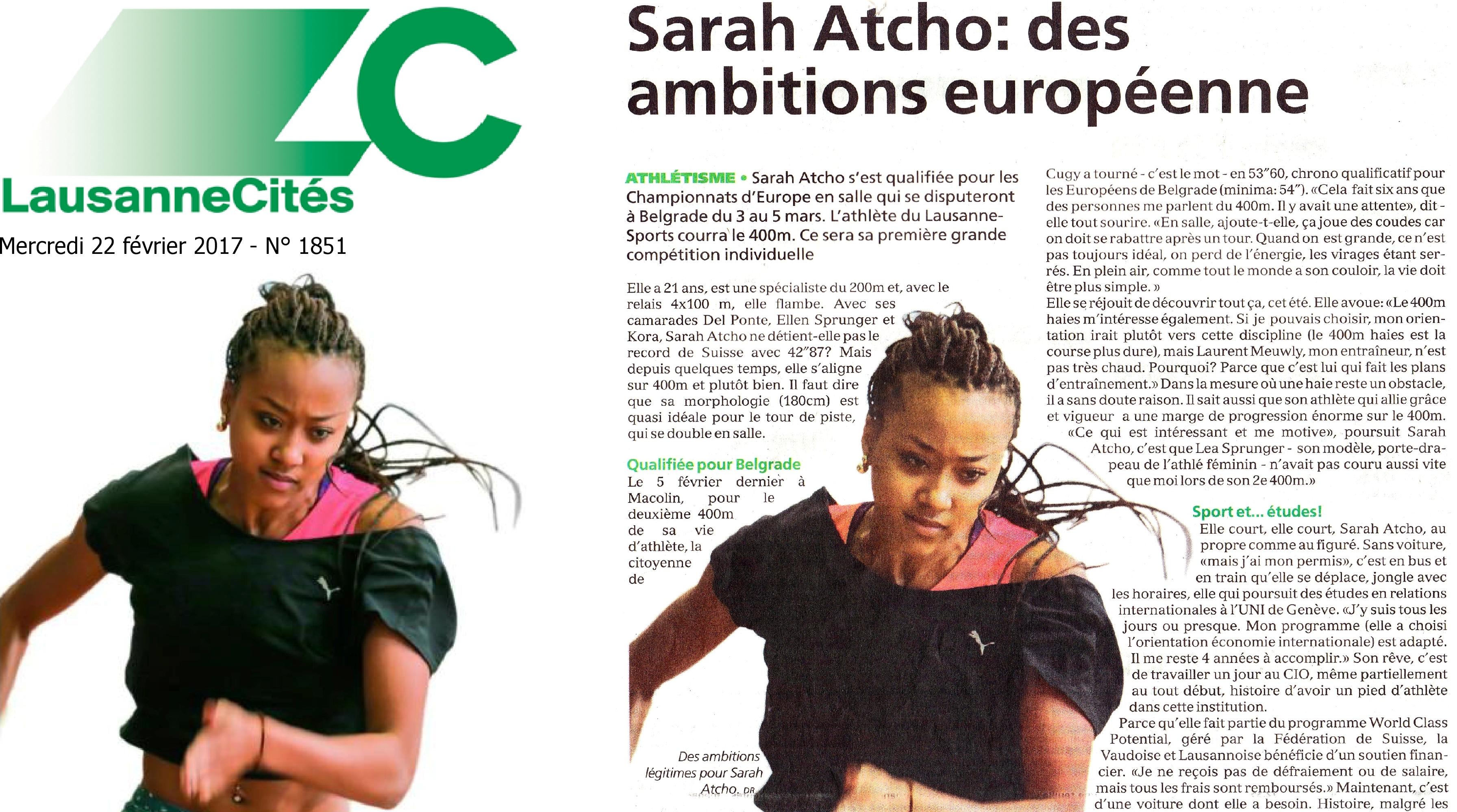 Revue de presse : Sarah Atcho