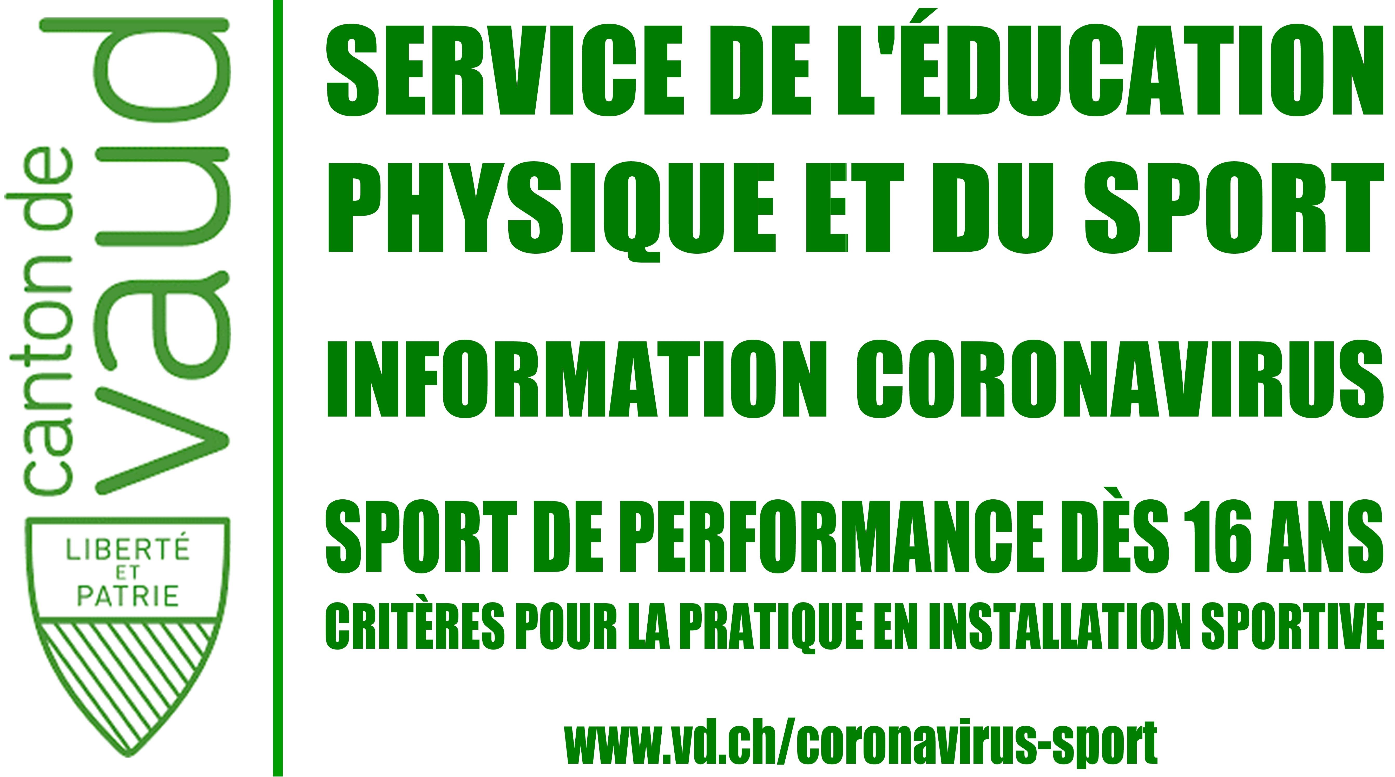 Sport de performance dès 16 ans | Info SEPS